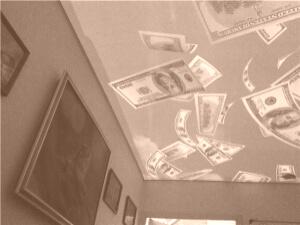 Натяжные потолки фотопечать с подсветкой